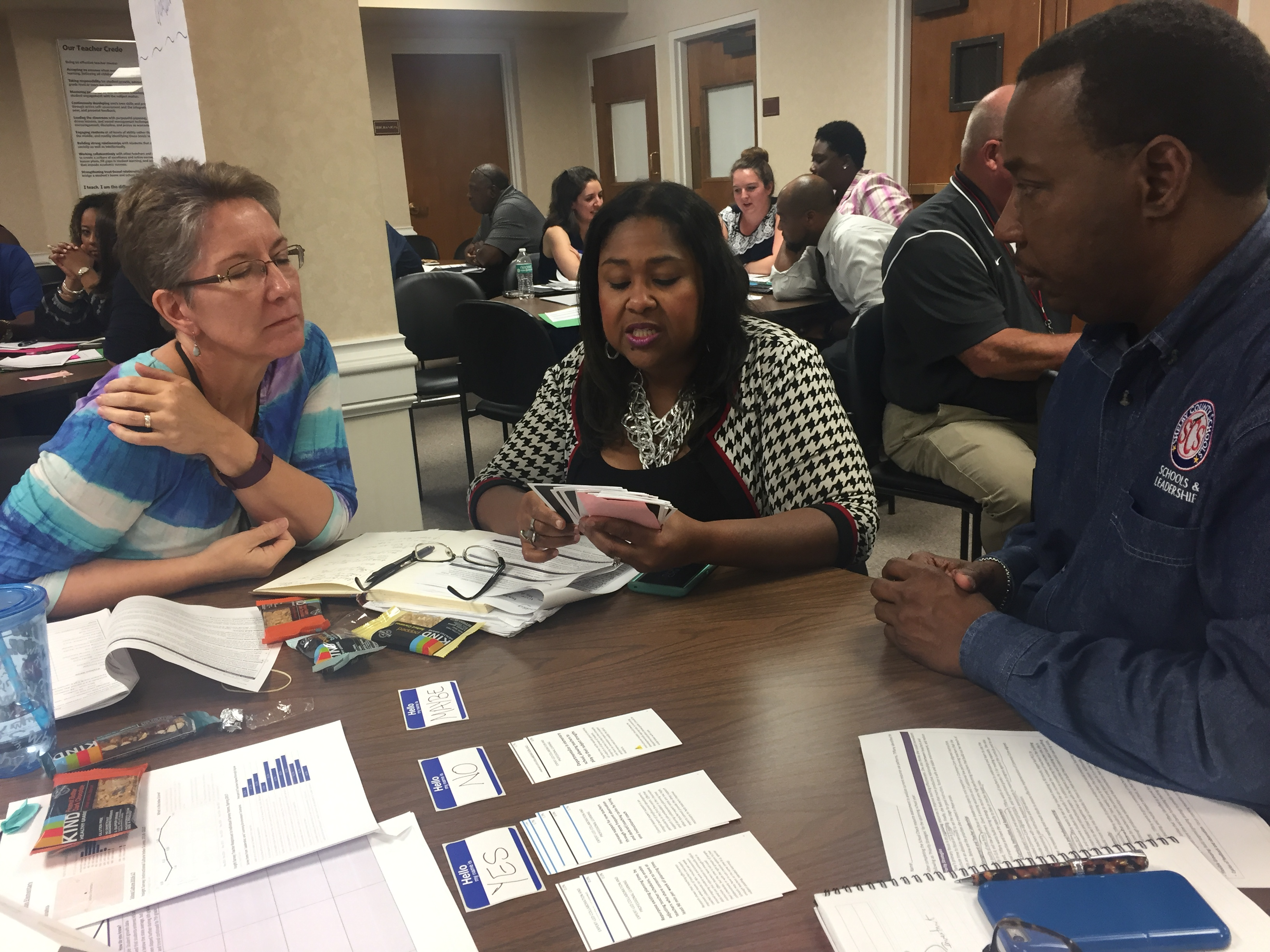 Memphis school staff playing Hold'em Aug 2017 pic 1
