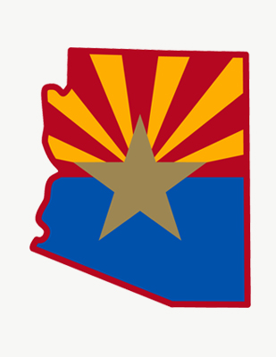 Arizona flag and state outline thumbnail